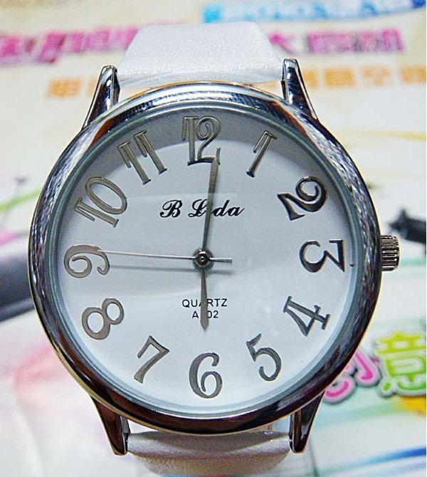 Leather 12 cm Round watch Glass Quartz SP-2601-SL8
