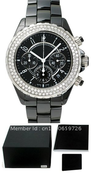 watch CHRONO BLACK CERAMIC DIAMONDS 41MM H1009