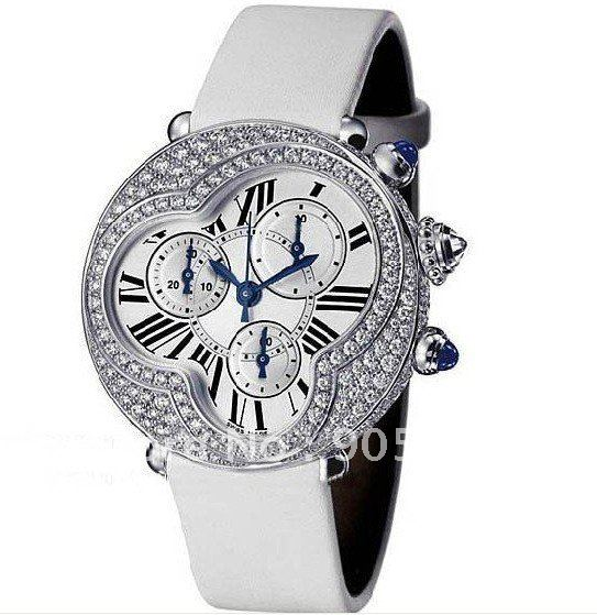 womens quartz white leather fashion watch