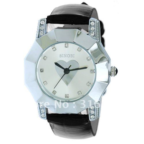 Freeshiping Wholesale New Arrival Fashion Wrist Watches steel Sinobi Watch Lady watch L 006 5pcs lot