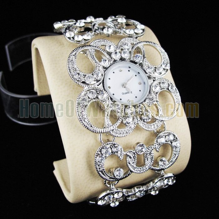 Leather 23.5 cm Round watch Glass Mechanical Hand Wind MK1-PK