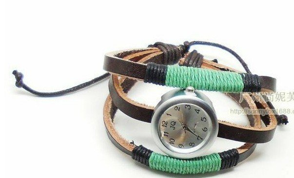Hot selling New Pure manual knitting leather bracelet watch Women s watch