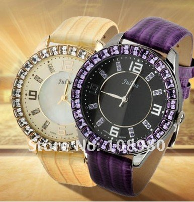 Julius Brand Korea Fashion Crystal Ladies Watch 9491