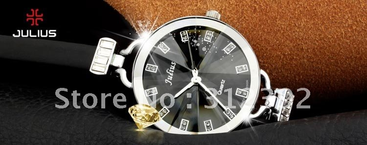 Leather 21.2 inch Round watch Acrylic Quartz iw1717