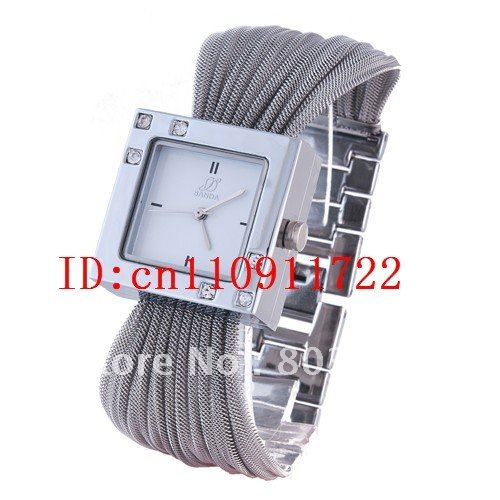 Luxury Lady Watch with Crystals Fashion Quartz Stainless Steel Wristwatch Japan Movement Top Quality
