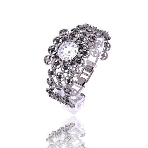 Stainless Steel  Round watch Acrylic Quartz Fashion wristwatches