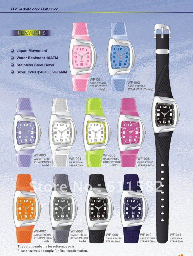 Plastic  Round watch Glass Digital WZ