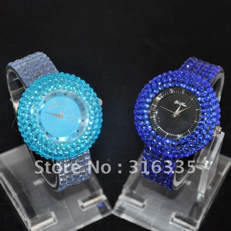 Leather 23 cm Round watch Glass Quartz 12808393