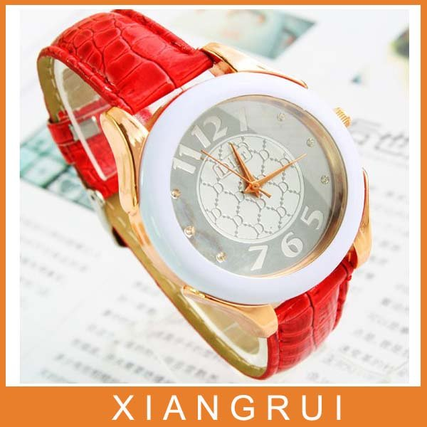 New Arrived mix colors popular fashion leather elegant simple ladies watch factory sale B028