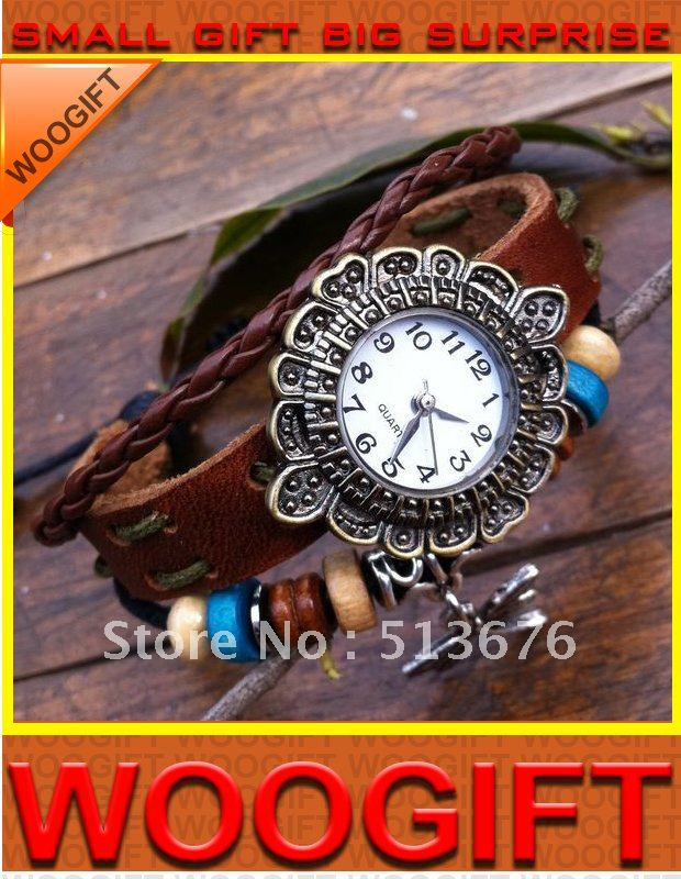 New arrival cow leather watchstrap watch for lady W 11 by Singapore post