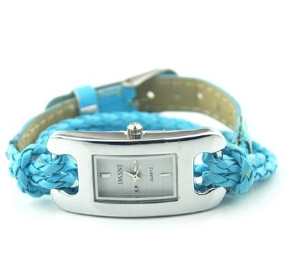 Promotion Fashion Korea Rope Watch Braided Leather Cord bracelet watch women watches 3 Color