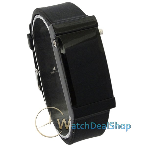 Leather 37.5 cm Rectangle watch Glass Quartz