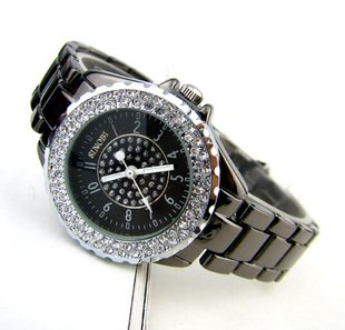 Stainless Steel 20.5 cm Round watch Glass Quartz s156