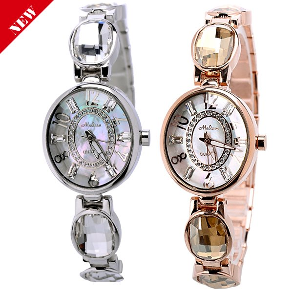 Wholesale Fashion Bracelet Women s Luxury Crystal Watch Ladies Jewelry Watch 2 colors available