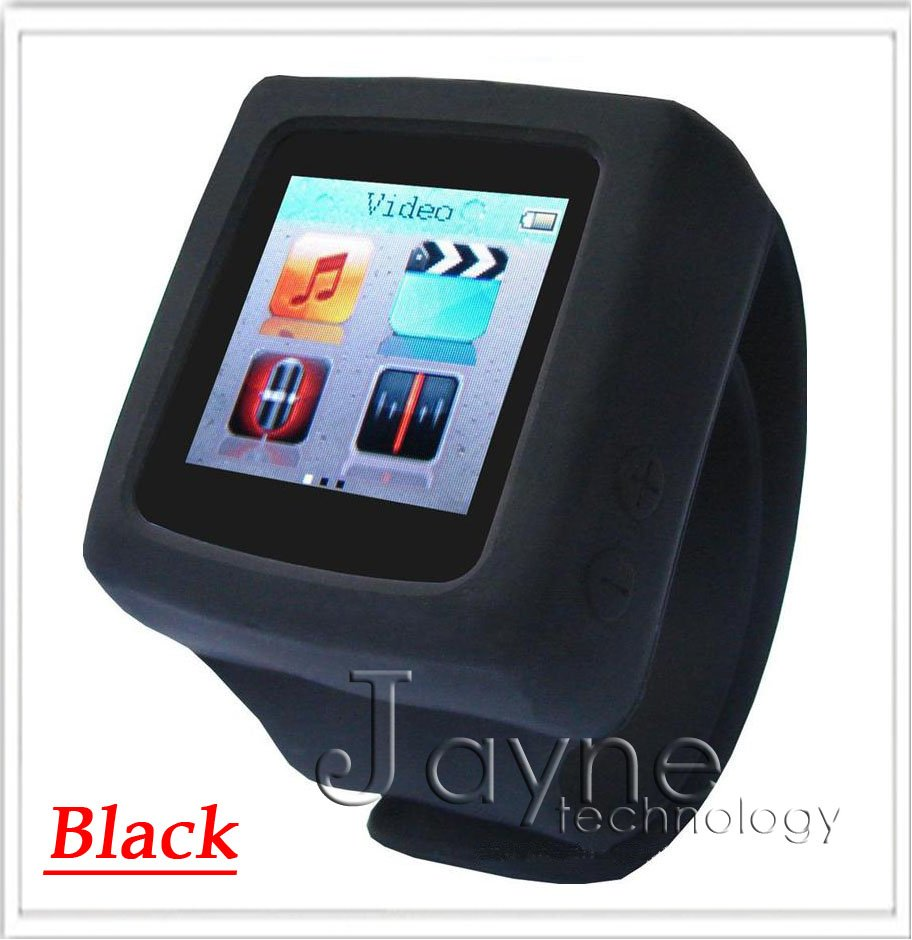 Wholesale New Various color MP3 MP4 player Watch E book Photo Frame FM AD666 watch Black