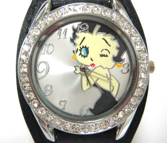 Wholesale lots new women s Betty Boop crystal wrist watches 752b
