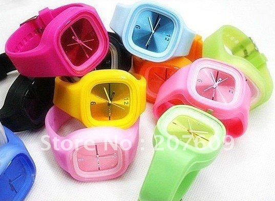 best selling jelly watch 3 styles and various colors available