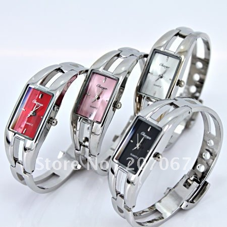 Stainless Steel  Rectangle watch Plastic Mechanical Hand Wind 099
