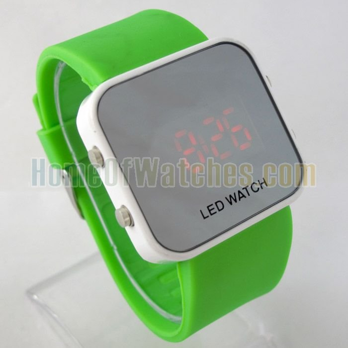 LED Watch Rubber Band Wrist Watch NBW0LE6379 GR3