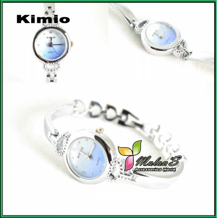 kimio stainless steel bracelet watch K140L NOW 2012 Silver Elagant Brand watch Fashion Crystal Watch 5Colours
