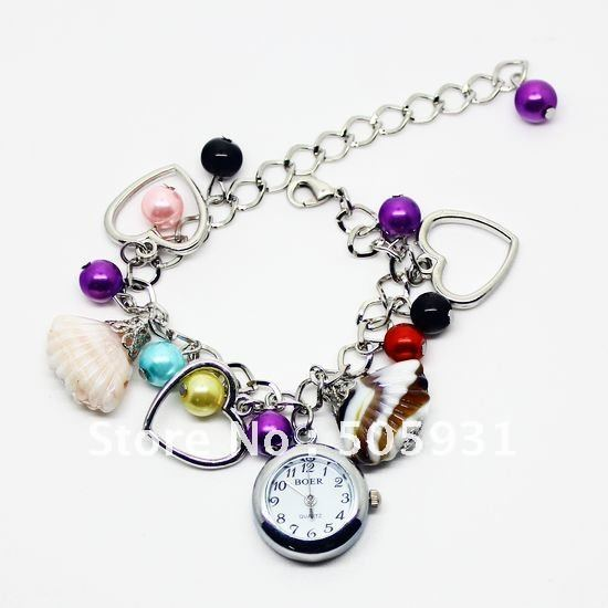 new hot selling summer fashion lady watch bracelet seashell very nice many colors for choosing wholesale